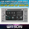 포드 Focus 2005-2007년 Car를 위한 Witson Car DVD DVD GPS 1080P DSP Capactive Screen WiFi 3G Front DVR Camera
