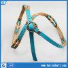 De kleurrijke Echte Armband van de Omslag van het Leer met de Parels van het Metaal (10-13094)