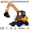 Maquinaria de construcción, excavadores rodados hidráulicos 8t con el capturador
