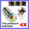 4PCS Car Auto Tire Pressure Monitor Valve Stem Caps Sensor Indicator Eye Alert (CAR-429)
