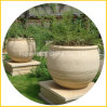 Granite Stone Round Garden Pot pour fleurs et plantes