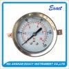 背部土台圧力正確に測液体によって満たされる圧力正確に測Bourdonの管の圧力計