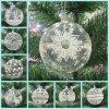 Transparente handgemalte Weihnachtsgroßhandelskugel, hängende Verzierung