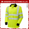 Camisas de polo reflexivas da segurança longa do desgaste do trabalho da luva (ELTSPSI-2)
