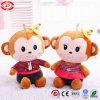 Happy Monkey Love U assis Fancy Don Kids un jouet en peluche