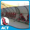 Assentos do leitor portátil para jogadores de futebol, ônibus, árbitro
