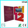 Nouvelle arrivée personnalisés Couverture dure de 7 pouces Invitation vidéo LCD, carte de voeux Vidéo Brochure