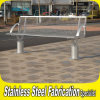 公園のための顧客用現代ステンレス鋼の庭の座席のベンチ