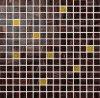 Azulejo de mosaico de oro del mosaico de la pared del azulejo de mosaico de la mezcla de cristal de cristal selecta de oro del azulejo