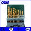 1.5-6.5mm caña recta HSS titanio Fresa espiral Conjunto de bits