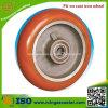 Unità di elaborazione rossa su Cast Iron Wheel per Industrial Caster