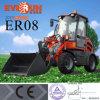 0,8 тонн торговой марки Everun небольших фермерских колесного погрузчика с ковшом для продажи