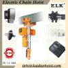 2ton het de dubbele Machines van de Bouw van het Hijstoestel van de Keten van de Snelheid Elektrische en Hijstoestel van de Koppeling met Elektrisch Karretje