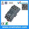 PPF-011 Mini plastique 8 broches DIN-Rail Matériau Mouting électrique Relais Prise murale