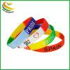 Armband van het Silicium van de Manchet van de Band van de Douane van de Gloed van de Hand van sporten de In het groot Goedkope