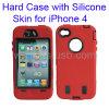 iPhone 4 (KIP4G-1005)のためのシリコーンの皮の二重層の堅い場合