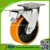 Roda resistente do rodízio do plutônio do amarelo total do freio