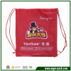 China Manufacturer Red Drawstring Sports Backpack
