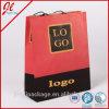 Bolsas de papel de Kraft de las bolsas de papel del arte de las bolsas de papel de las compras de la manera con insignia
