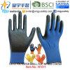 отделка перчаток нитрила раковины полиэфира 13G U3 покрынная ладонью (N1511) ровная с CE, En388, En420, перчатками работы