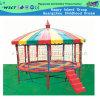 Tremplin extérieur de cour de jeu de tremplin coloré rond avec le toit (M11-10402)