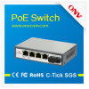 Sc Fiber Portおよび4 Poe Portsとの5ポートPoe Media Converter。 サポートIEEE802.3at標準