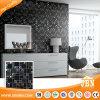 Black Color Plating Stone and Glass Mosaic pour intérieur et extérieur (M855005)