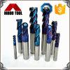Твердые торцевые фрезы карбида с голубым Nano покрытием для стали