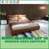 アメリカの現代寝室セットの柔らかい革キングサイズのベッド