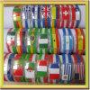 Wristband della bandiera nazionale del braccialetto del silicone della torcia elettrica