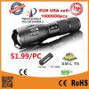 La torche à lampe LED la plus puissante et la plus lumineuse avec la lampe de poche LED Zoom Focus