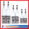 Bottle di vetro con Stainless Steel Design