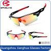 Le volleyball antidérapage de mode Sun de lentille colorée chaude en verre de la Chine folâtre des lunettes de soleil