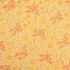 Tela feita malha para a roupa das mulheres do verão, corredor do laço do algodão do projeto da flor envoltório Allover amarelo da tabela, decoração, ofícios de DIY