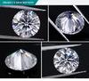 공장 최고 가격 8 mm 2 CT 8 Hearts& 화살 다이아몬드 둥근 커트 영구히 1 백색 Moissanite