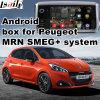 Relação video da caixa Android da navegação do GPS para Peugeot 208 controle da voz da ligação do espelho de opinião traseira de 2008 308 408 508 Mrn Semg