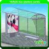 Aluminium Frame Steel Pole Street Publicité Bus Shelters Station avec Lightbox
