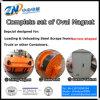 Elevador eléctrico de alta freqüência com formato oval de sucata de aço levantando a partir Narrow-Space MW61-300150L/1-75