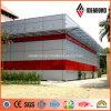 4ft*8ft 4mmの外壁PVDFのペンキアルミニウムクラッディング