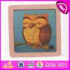 2015 Belle Owl Deisgn Kids Puzzle en bois jouet, les enfants de 4 pcs Animal en bois Puzzles, jeu de puzzle en bois d'animaux promotionnel W14C160