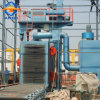 Fonderie d'explosion de l'industrie de la machine avec convoyeur à rouleaux