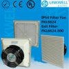 De China ABS de flujo de aire grande Ventilador de ventilación del filtro con CE Certificado RoHS para el panel eléctrico del recinto (FKL6624)