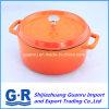 鍋を調理するエナメル塗料の鋳鉄