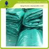 Encerado del HDPE, material de la tienda, cubiertas plásticas al aire libre polivinílicas impermeables, encerado polivinílico verde,