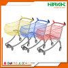 Plastik gesprühte Metallsupermarkt-Handkarren-Einkaufen-Laufkatzen