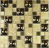 Стеклянная плитка мозаики металла смешивания мозаики для украшения ванной комнаты (GM30)