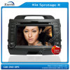 Radio de coche de la pulgada Fli8 para KIA Sportage R con reproductor de DVD del coche de Bluetooth GPS (Z-2996N) p abajo con el monitor 880d del LCD del montaje de la azotea 8.5inch