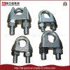 Galv électrique. Clip malléable de câble métallique de bâti de Fatener DIN741