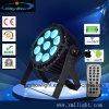 DMX Controle WiFi sem fio 9X18W RGBWA+à prova de raios UV LED da bateria luz PAR