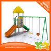 Matériel de doubles glissières et d'oscillations de mini cour de jeu extérieure pour des enfants